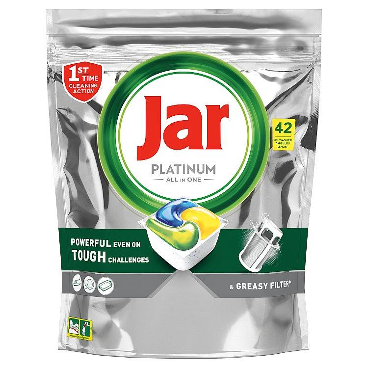 Jar Platinum Kapsle Do Automatické Myčky Nádobí Vše V Jednom Lemon 42 ks