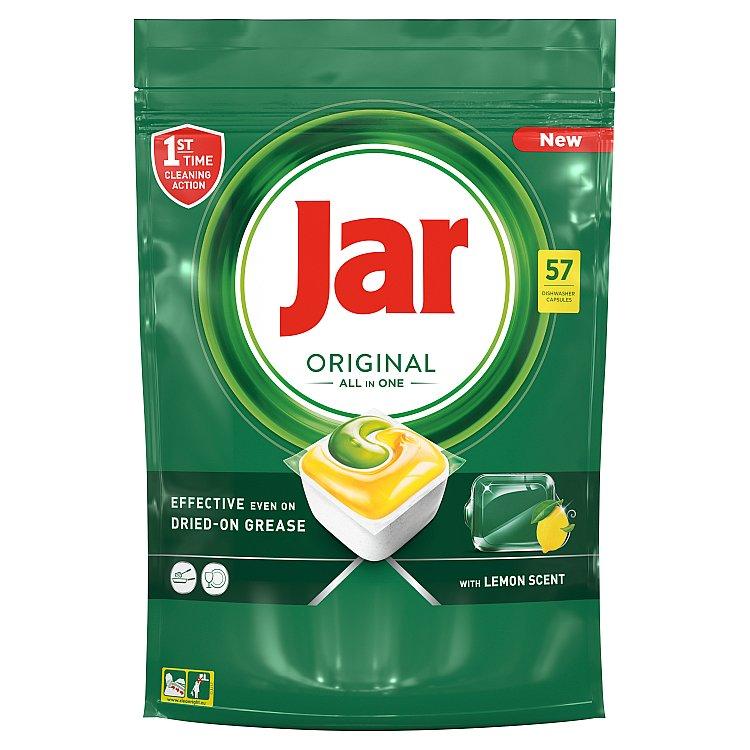 Jar Original kapsle do automatické myčky nádobí vše v jednom lemon 57 ks