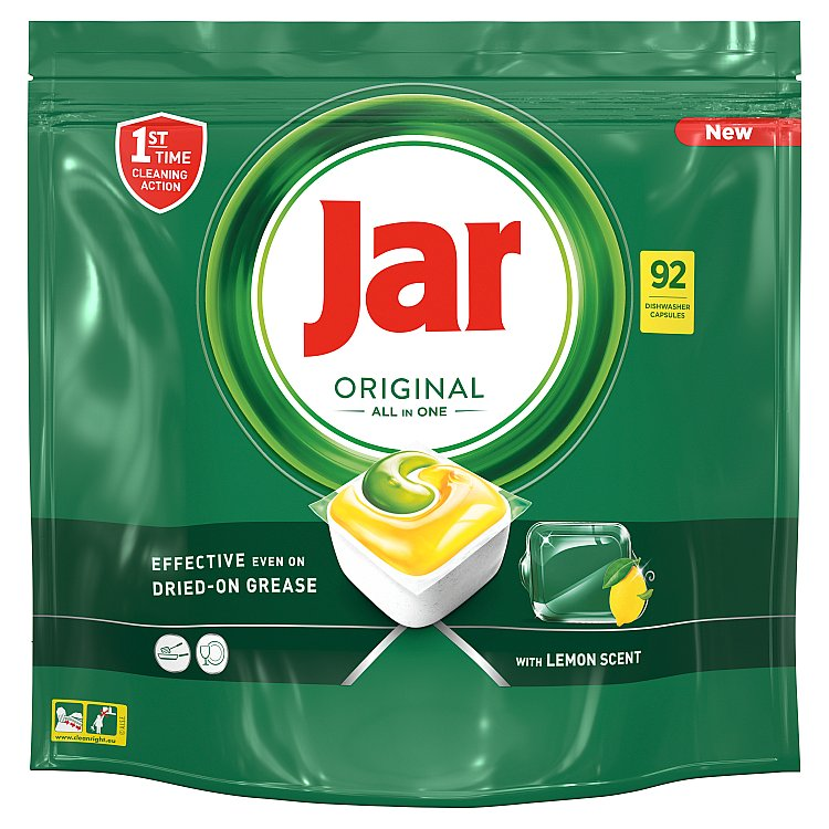 Jar Original Kapsle Do Automatické Myčky Nádobí Vše V Jednom Lemon 92 ks