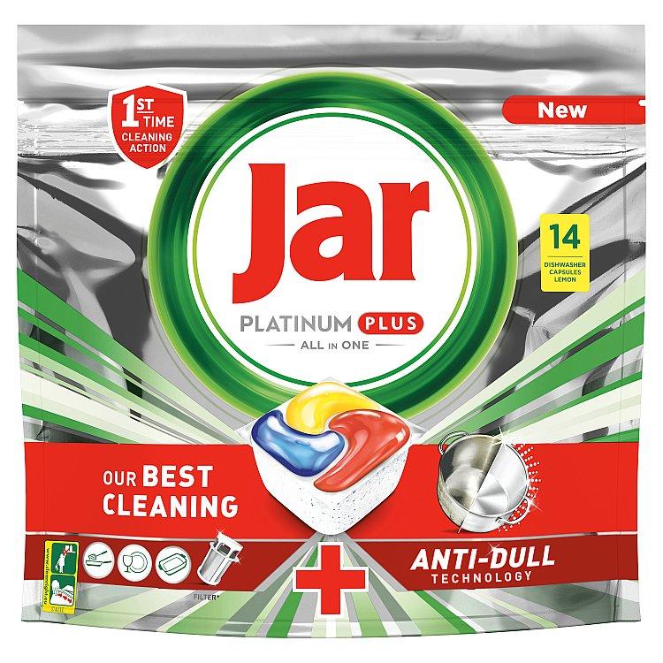 Jar Platinum Plus Kapsle Do Automatické Myčky Nádobí Vše V Jednom Lemon 14 ks
