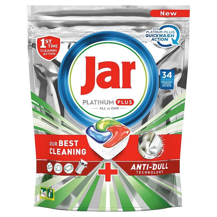 Jar Platinum Plus Kapsle Do Automatické Myčky Nádobí Vše V Jednom Regular 34 ks