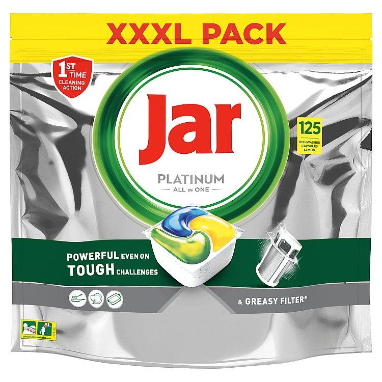 Jar Platinum Kapsle Do Automatické Myčky Nádobí Vše V Jednom Lemon 125 ks