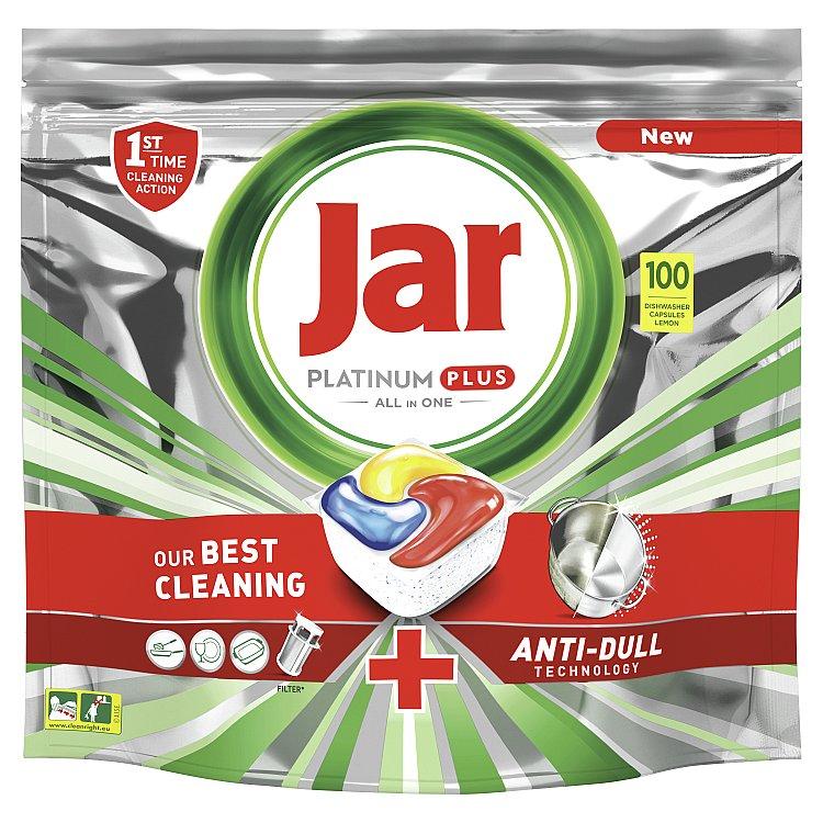 Jar Platinum Plus Kapsle Do Automatické Myčky Nádobí Vše V Jednom Lemon 100 ks
