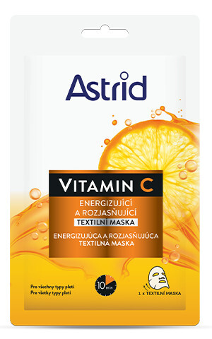 Astrid Energizující a rozjasňující textilní maska Vitamin C 1 ks