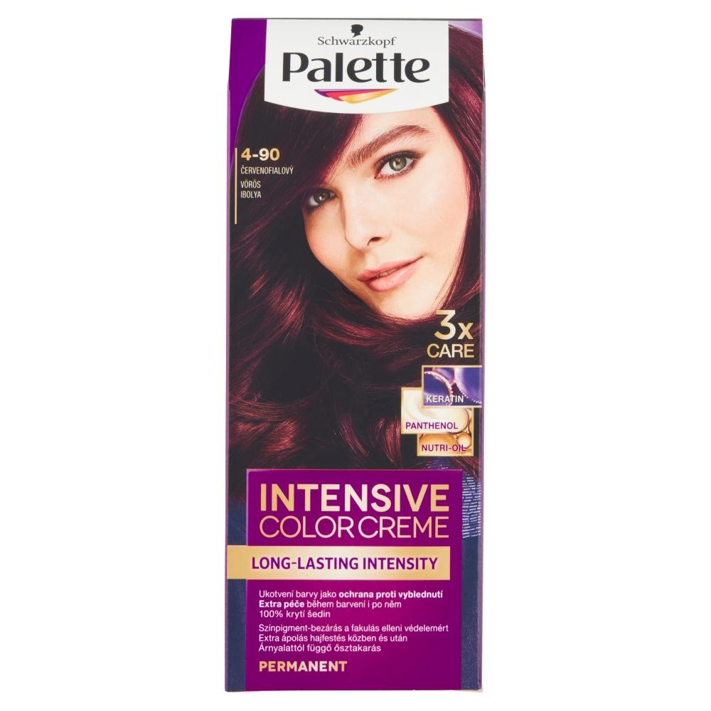 Schwarzkopf Palette Intensive Color Creme barva na vlasy odstín červenofialový 4-90