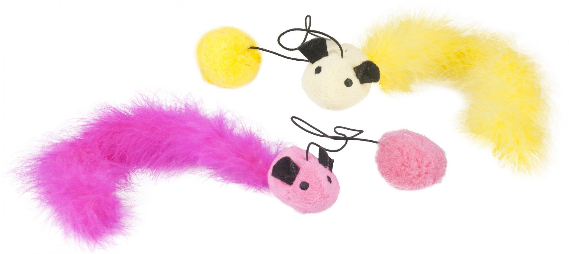 Flamingo Hračka pro kočky Myš s balonkem 60cm