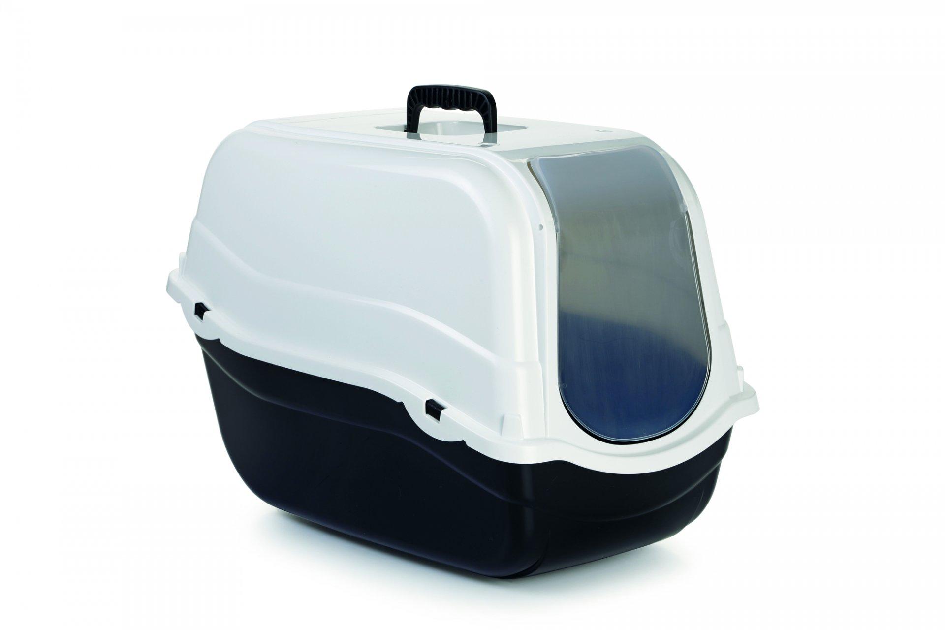 Beeztees Toaleta pro kočky ROMEO černá/bílá 57x39x41cm