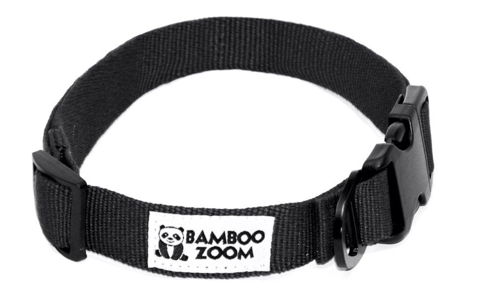 Bamboo Zoom Obojek pro psy černý S