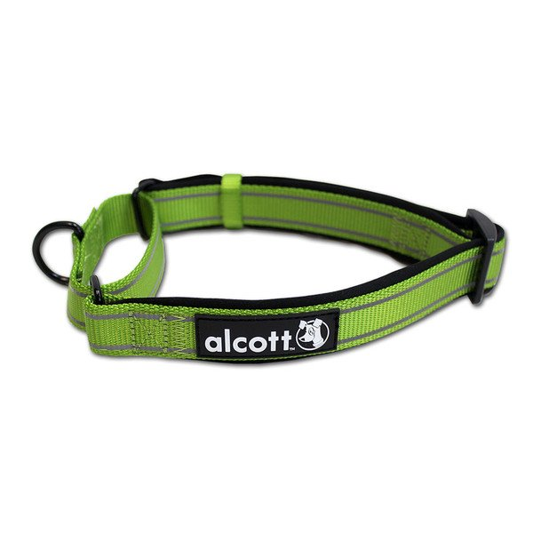 Alcott reflexní obojek pro psy, Martingale, zelený, velikost L