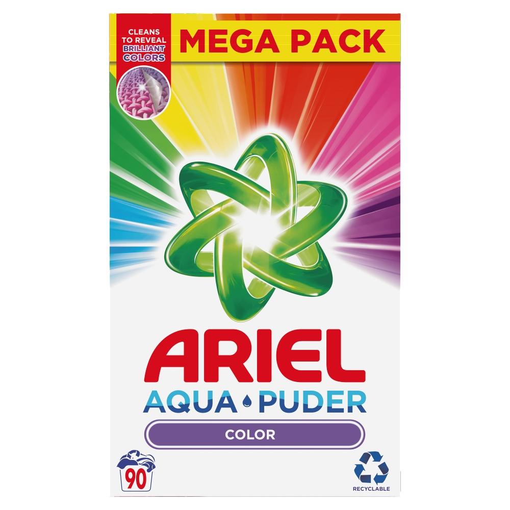 Ariel Prací prášek AquaPuder Color, 90 praní 6,75 kg