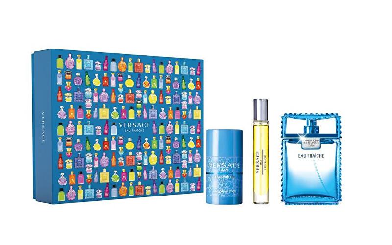 Versace Eau Fraiche Man - EDT + tuhý deodorant + EDT 100 ml + 75 ml + 10 ml