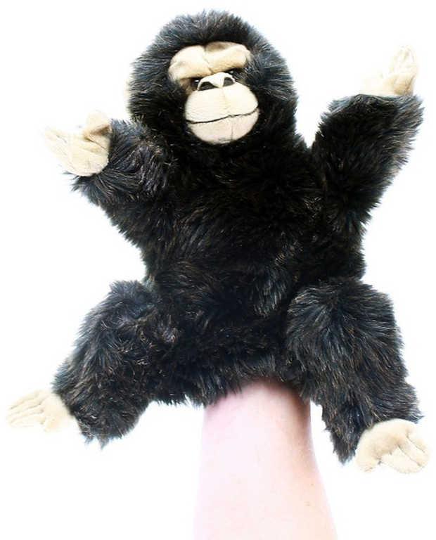 PLYŠ Maňásek opice 28cm na ruku *PLYŠOVÉ HRAČKY*