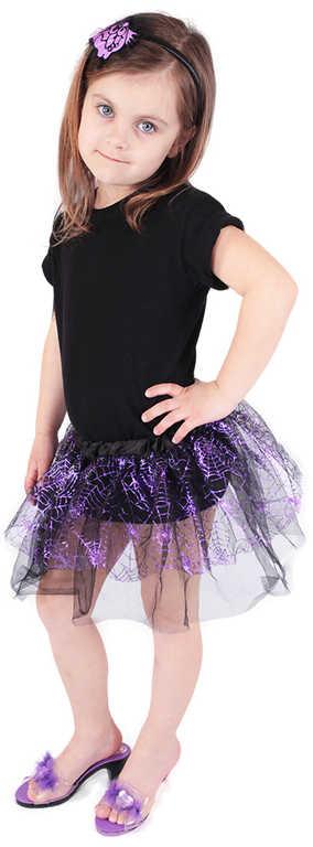 KARNEVAL Šaty čarodějka sukně s čelenkou 3-10 let (104-150 cm) *KOSTÝM*