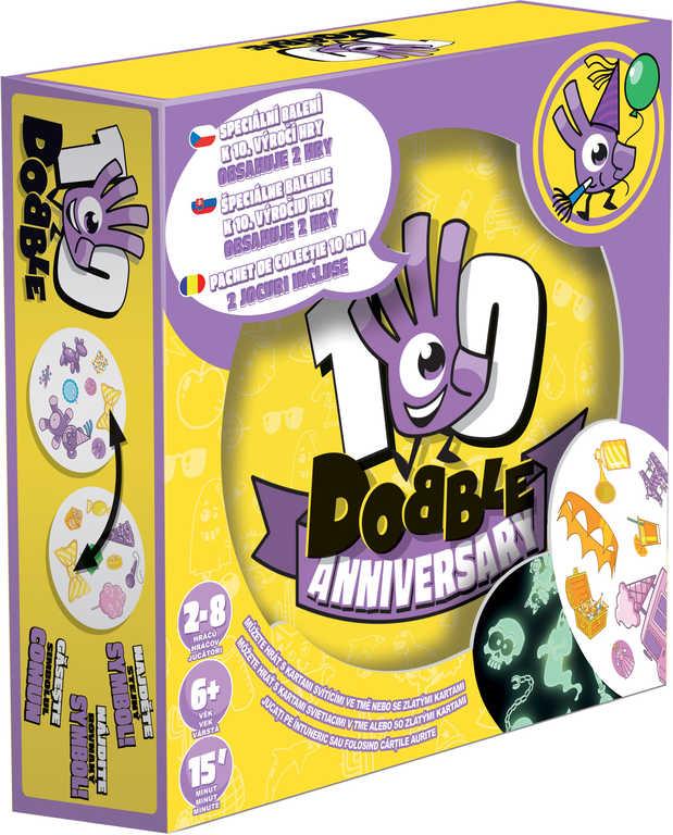 ADC Hra Dobble Anniversary Výroční edice svítí ve tmě 2v1 *SPOLEČENSKÉ HRY*