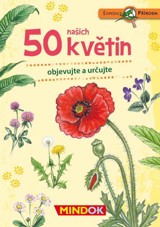 MINDOK HRA kvízová Expedice Příroda: 50 našich květin naučná