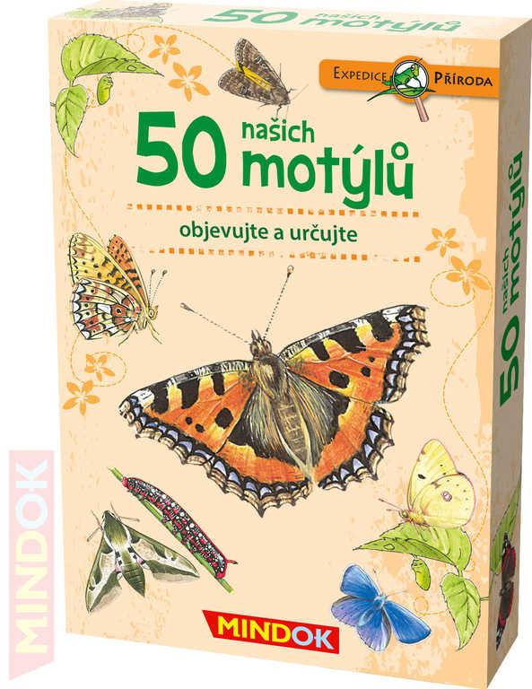 MINDOK HRA kvízová Expedice Příroda: 50 našich motýlů