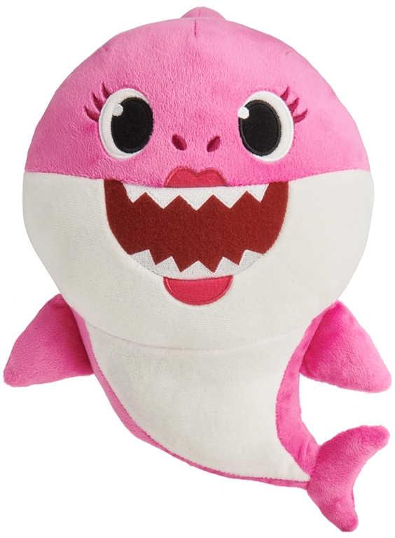 PLYŠ Baby Shark 28cm růžový na baterie Zvuk *PLYŠOVÉ HRAČKY*