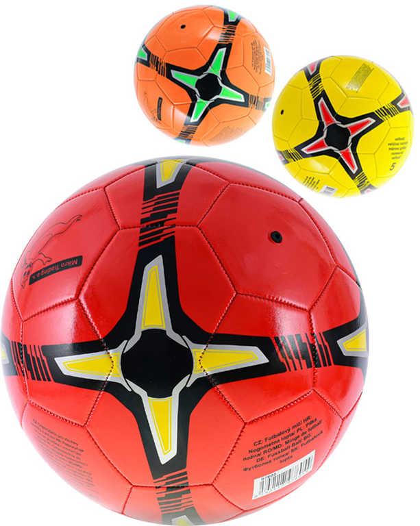 Míč dětský fotbalový kopačák vel.5 balon 20cm 3 barvy