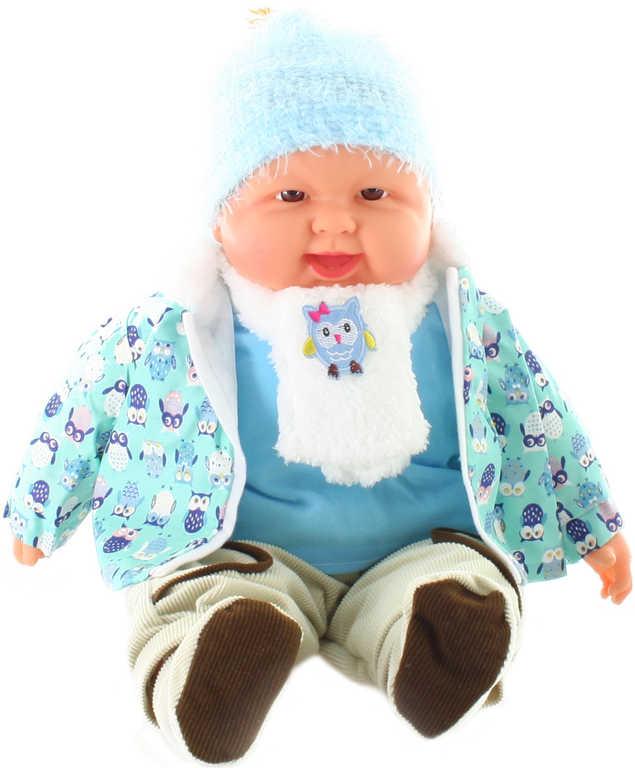 Panenka miminko velké 53cm chlapeček měkké tělíčko v oblečku