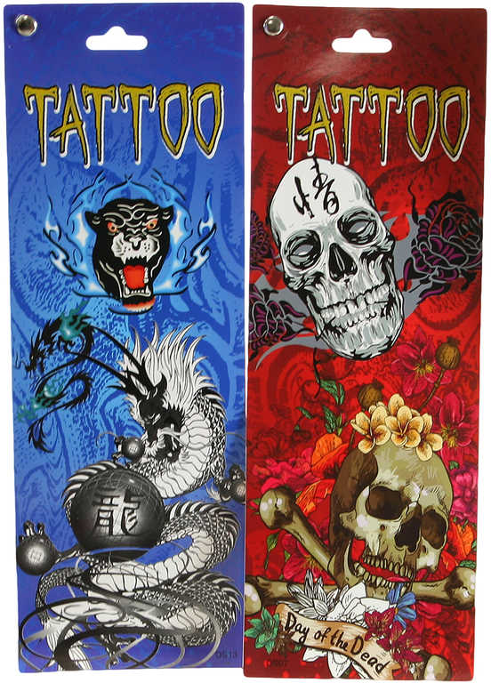 Tetování dětské tattoo set 6 archů 6 druhů