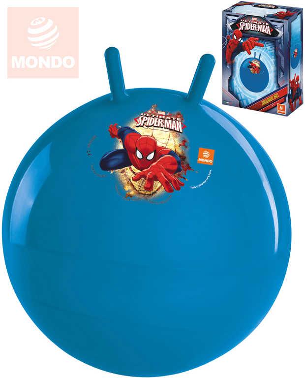 MONDO Míč nafukovací skákací Spiderman 50cm hopsadlo klučičí červené