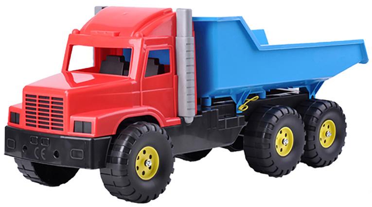 Auto nákladní 77cm červeno-modré sklápěčka na písek plast