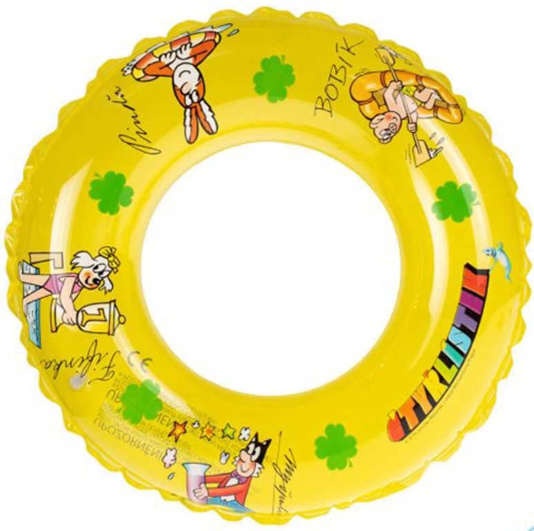 Plavací kruh Čtyrlístek nafukovací kolo žluté 40cm do vody