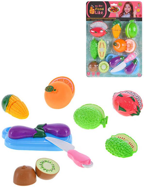 Sada krájecí ovoce a zelenina set 7ks na suchý zip s nožíkem a prkýnkem