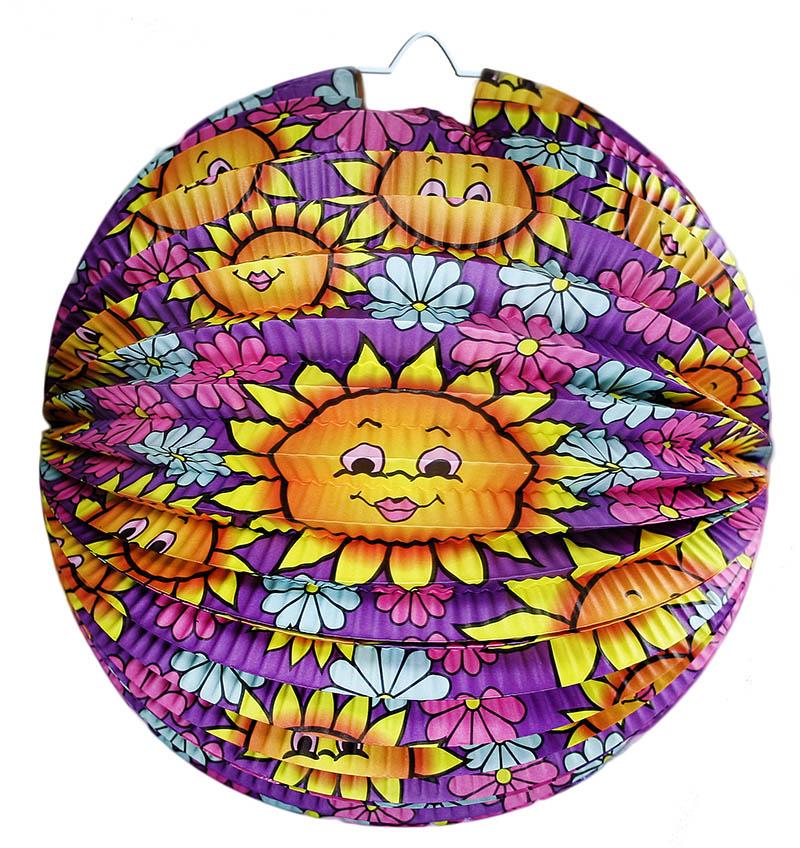 Kulatý lampion Slunečnice 25 cm