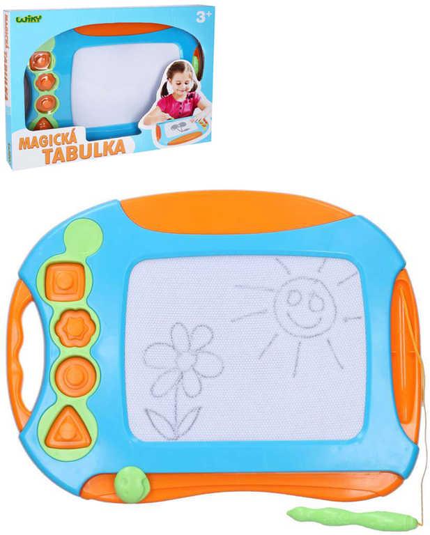 Tabulka dětská magnetická kreslicí set se 4 razítky a kouzelným perem