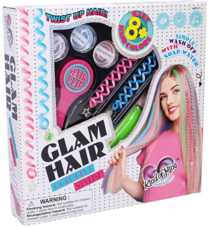 Zdobení vlasů dívčí kreativní set s vlasovými křídami v krabici