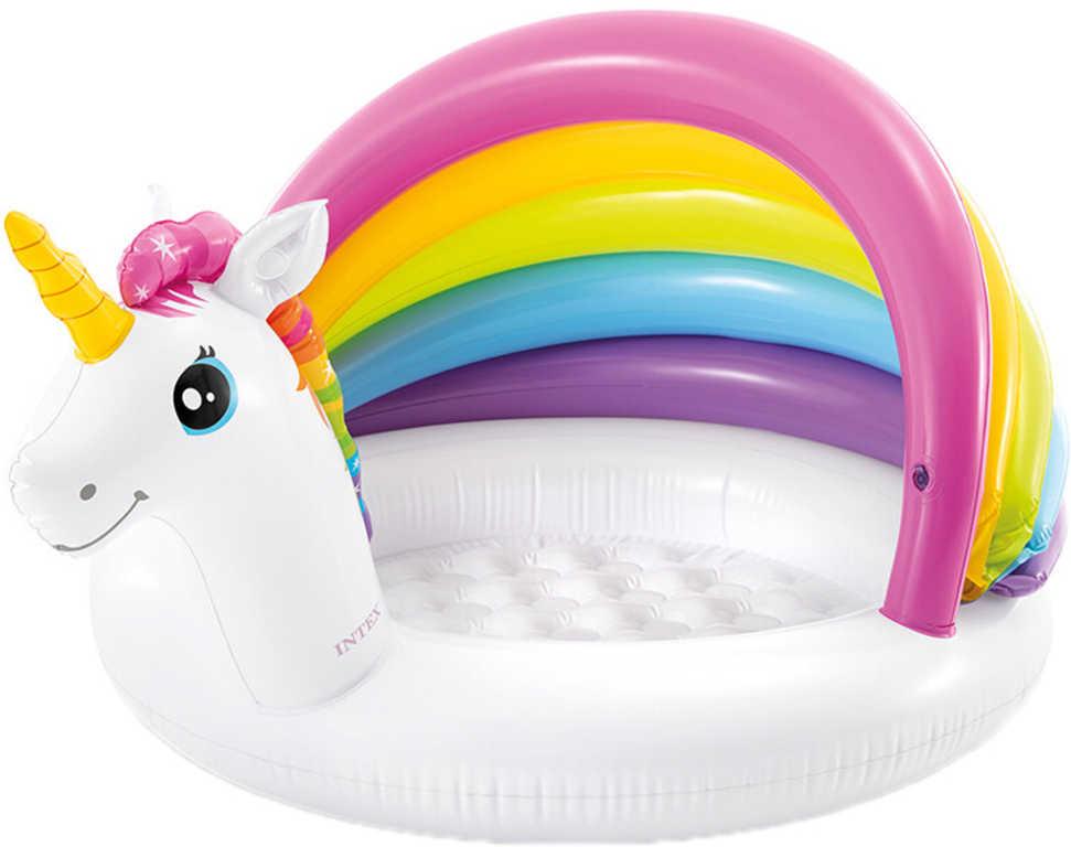 INTEX Baby bazének nafukovací Jednorožec 127x102x69cm na vodu 57113