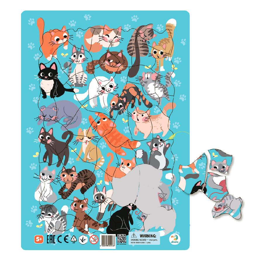 Puzzle rámové Kočky 53 dílků