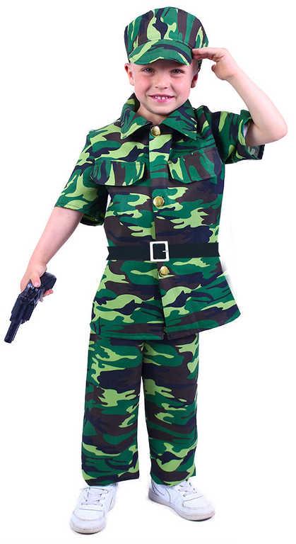 KARNEVAL Šaty voják vel. M (120-130cm) 6-8 let *KOSTÝM*