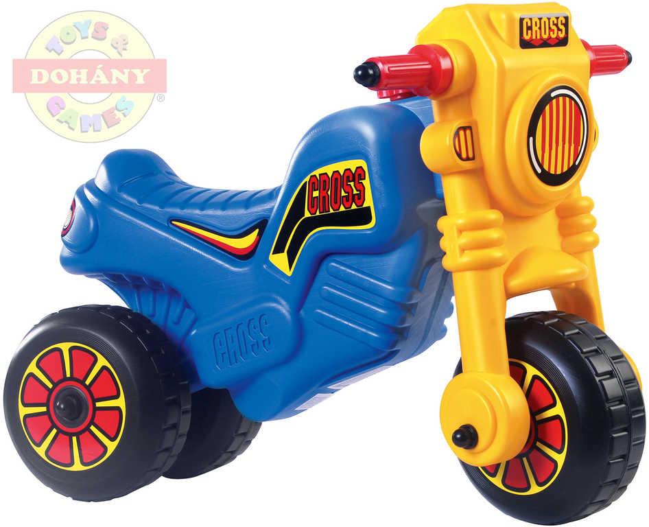 MAD Odrážedlo dětské odstrkovadlo CROSS velká motorka modrá