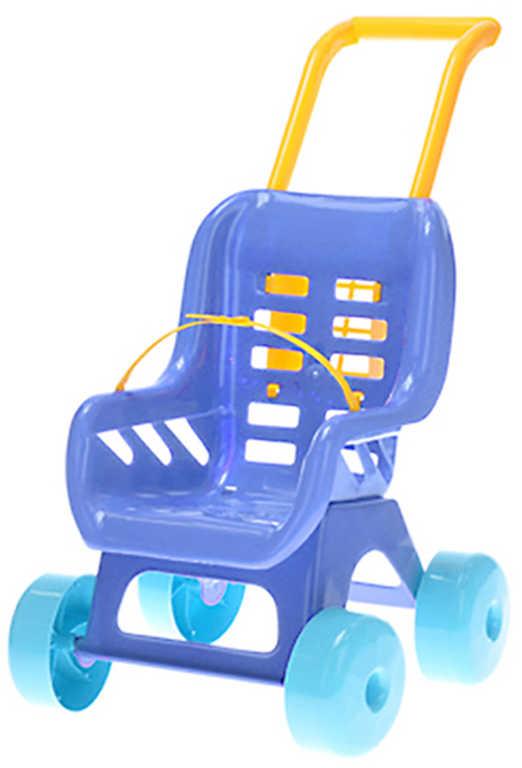 MAD Kočárek barevný BUGGY modrý 48x41x29cm pro panenku miminko