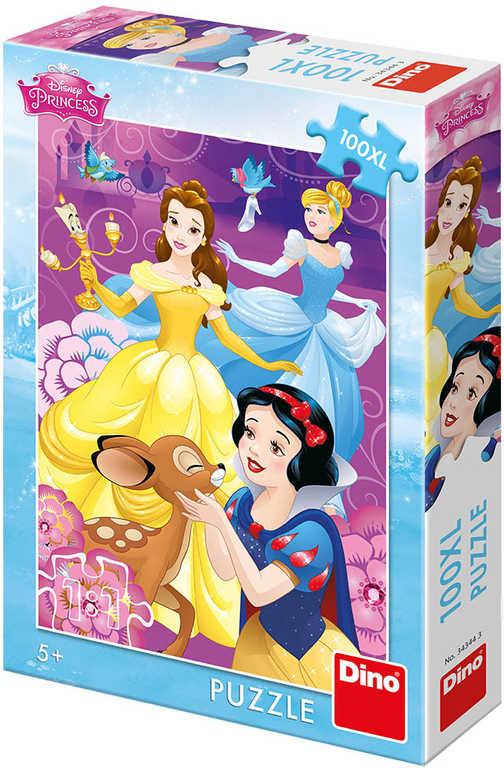 DINO Puzzle XL Disney Duhové Princezny 100 dílků 33x47cm skládačka v krabici
