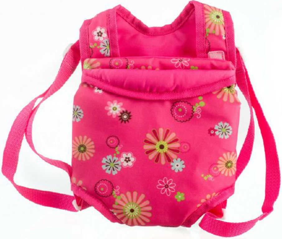 Nosítko pro panenky klokaní kapsa 29x20cm s popruhy v sáčku