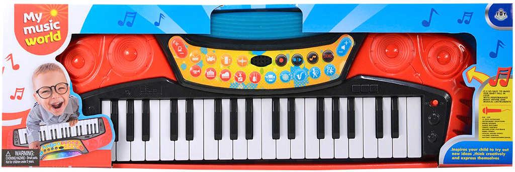 Piano dětské elektronické 37 kláves keyboard na baterie Světlo Zvuk