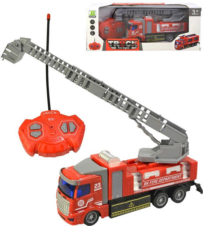 RC Auto hasičské na vysílačku 24MHz 4 kanály na baterie Světlo Zvuk