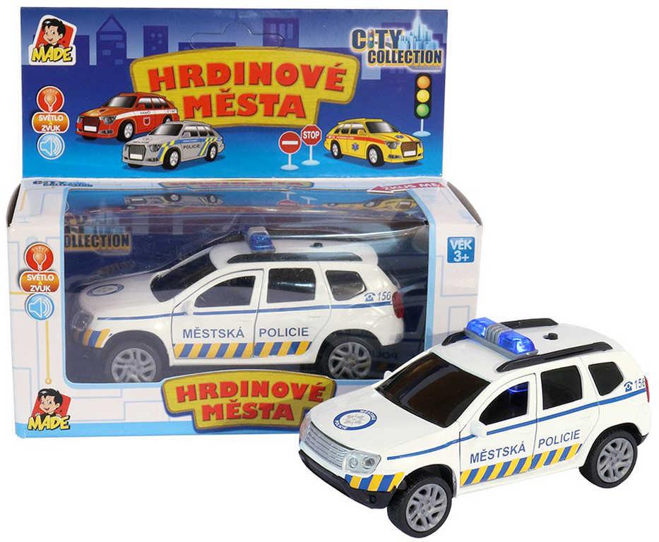City Collection auto osobní SUV policie 10cm na baterie Světlo Zvuk