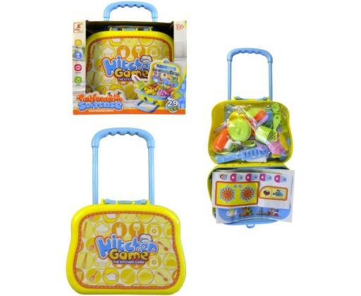 E-shop Souprava kuchyňská dětské nádobí set 29ks v kufříku 56x23cm plast