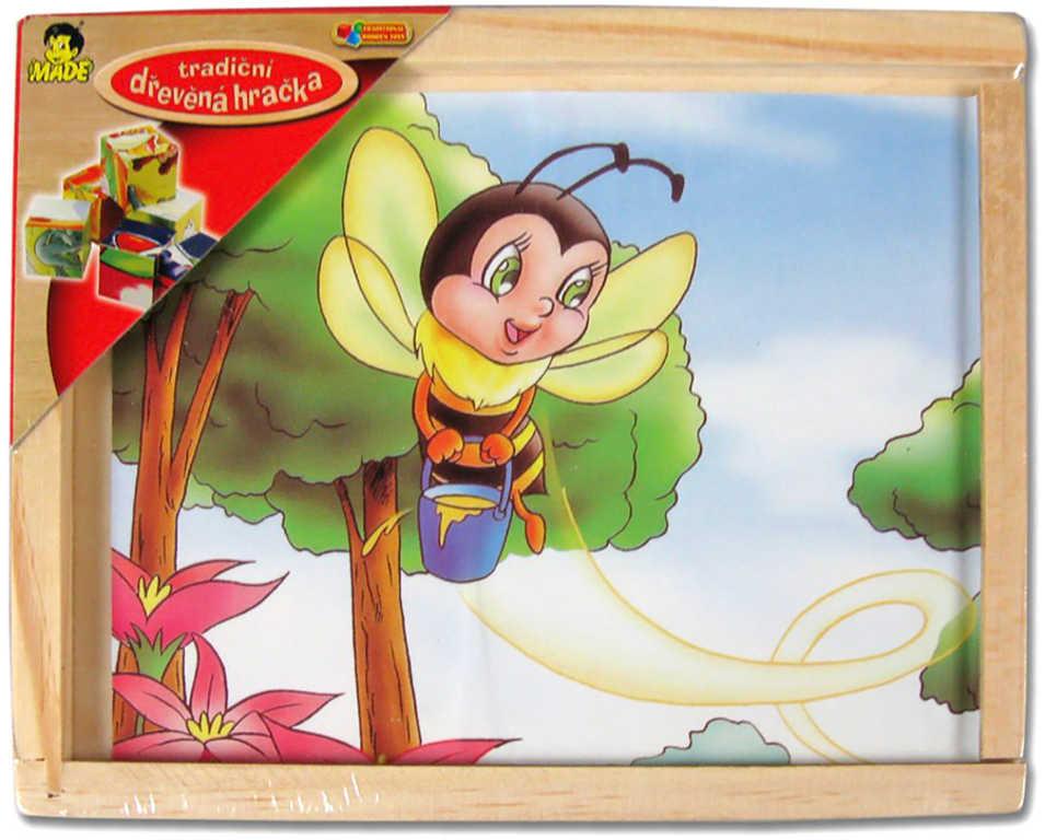 DŘEVO Kubus dřevěný 12 ks (dřevěné kostky)* DŘEVĚNÉ HRAČKY*