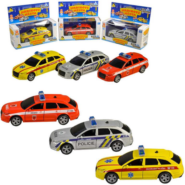Auto City Collection záchranné složky zpětný chod 3 druhy Světlo Zvuk kov