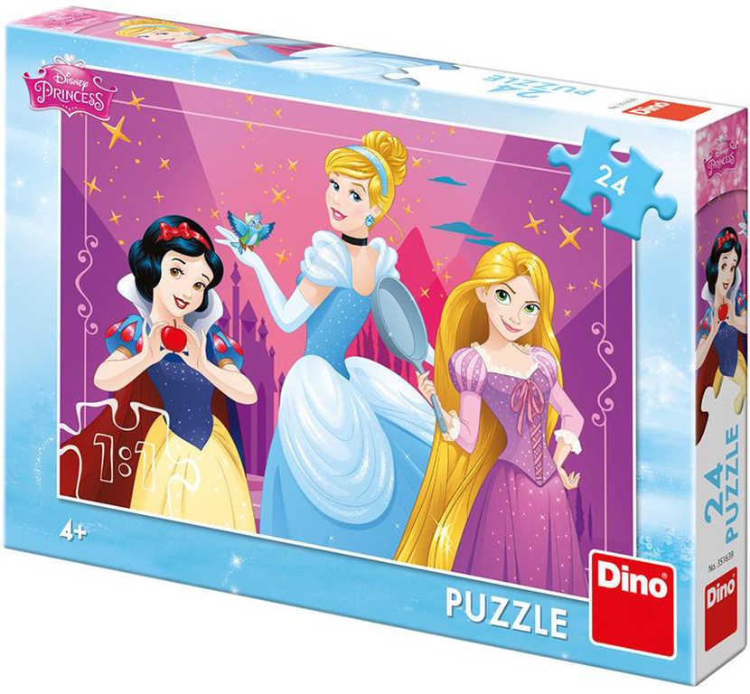 DINO Puzzle 24 dílků Disney Odvážné princezny skládačka 26x18cm
