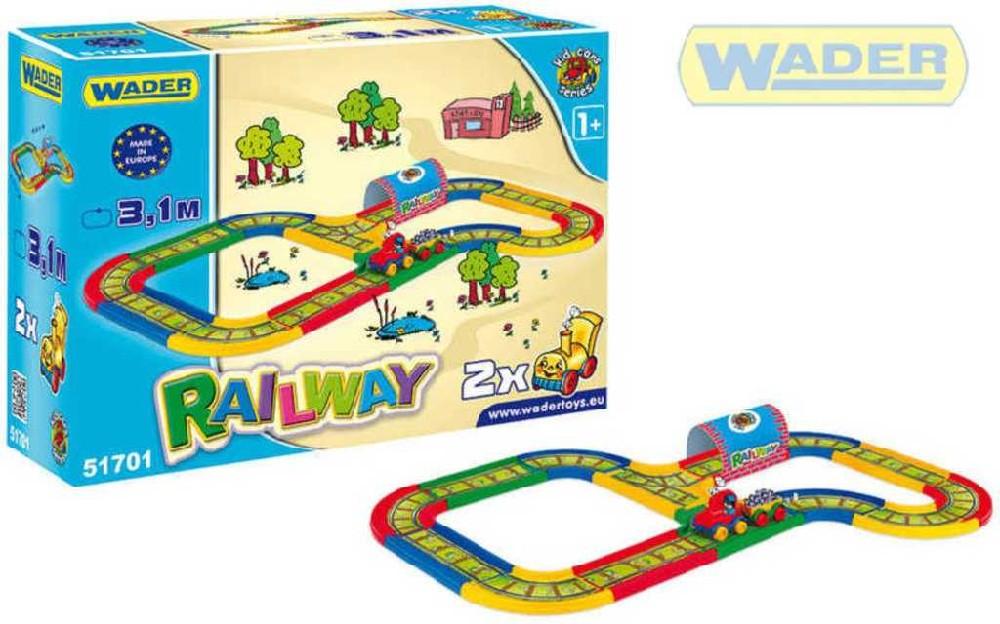 WADER Železnice KID CAR 3,1M 51701