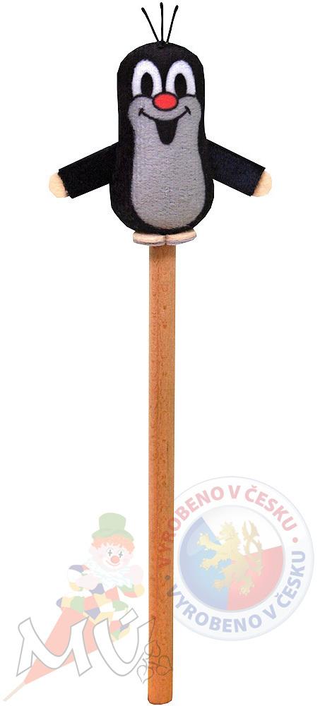 MORAVSKÁ ÚSTŘEDNA Tužka dřevěná Krtek 5 cm Krteček *PLYŠOVÉ HRAČKY*