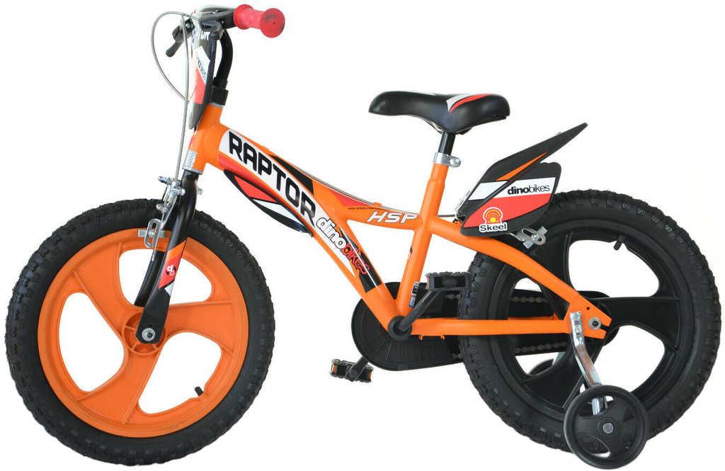 """ACRA Dětské kolo Dino Bikes 143 oranžové chlapecké 14"""" balanční kolečka"""