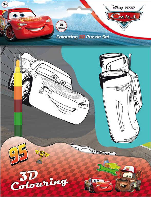 JIRI MODELS Omalovánkové 3D postavy Auta (Cars) set s voskovkou