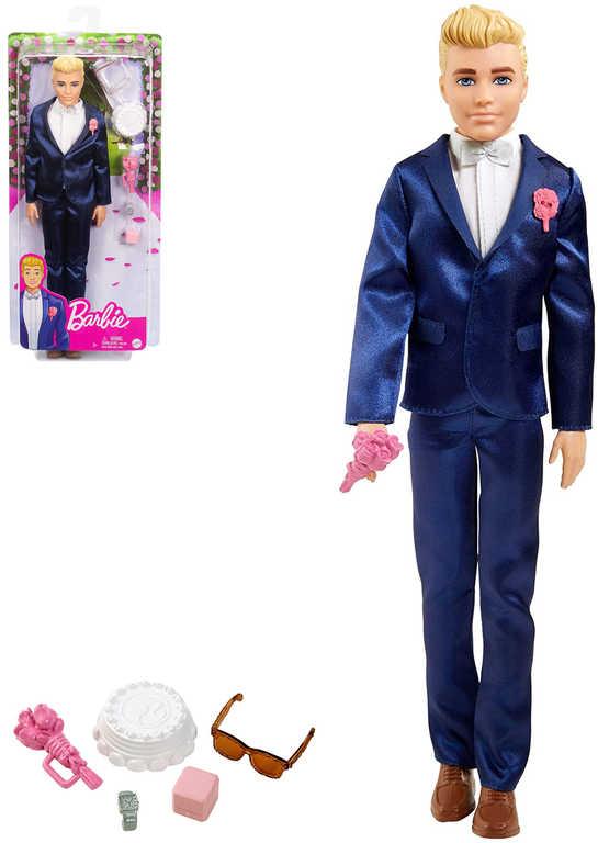 MATTEL BRB Barbie panák Ken ženich v obleku svatební set s doplňky